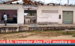 Glória BA: Vereador Alex PDT mostra o descaso e abandono do antigo Mercado Municipal